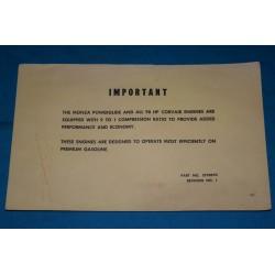 1961 Corvair 98HP Eng. Update