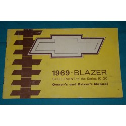 1969 Blazer supplement