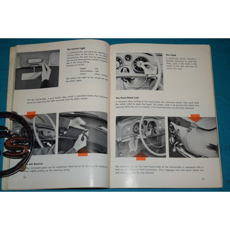 Original 1959 Volkswagen Karmann Ghia owners manual Type 14