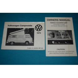 Original 1976 Volkswagen Westfalia campingmobile owners manual