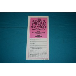 1971 Blazer / Truck Protection plan NOS