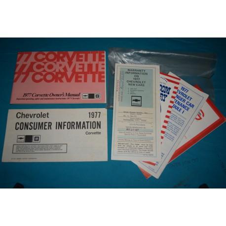 1977 Chevrolet Corvette Owner/'s Manual
