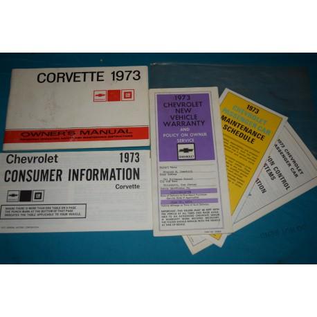 Original 1973 Chevrolet Corvette Owners Manual