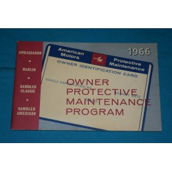 1966 NOS AMC warranty book
