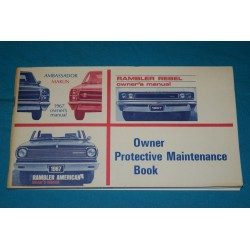 1967 NOS AMC warranty book