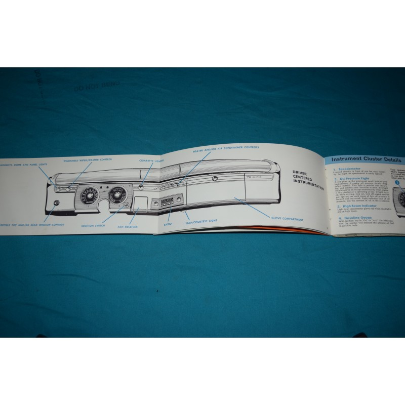Original 1965 Plymouth Barracuda / Valiant owners manual
