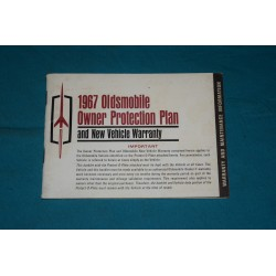 1967 Oldsmobile Warranty book NOS