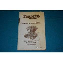 1970 Triumph Bonneville / Trophy Owners manual