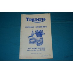 1965 Triumph Tiger Owners manual