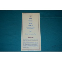 1970 Buick Owner Warranty book NOS