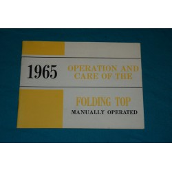 1965 Corvair Convertible top operation manual