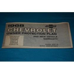 1968 NOS Owners protection Plan