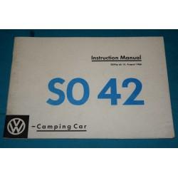 1967 Volkswagen SO 42 Westfalia supplement