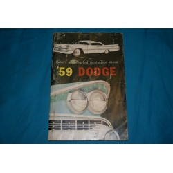1959 Dodge Owners manual