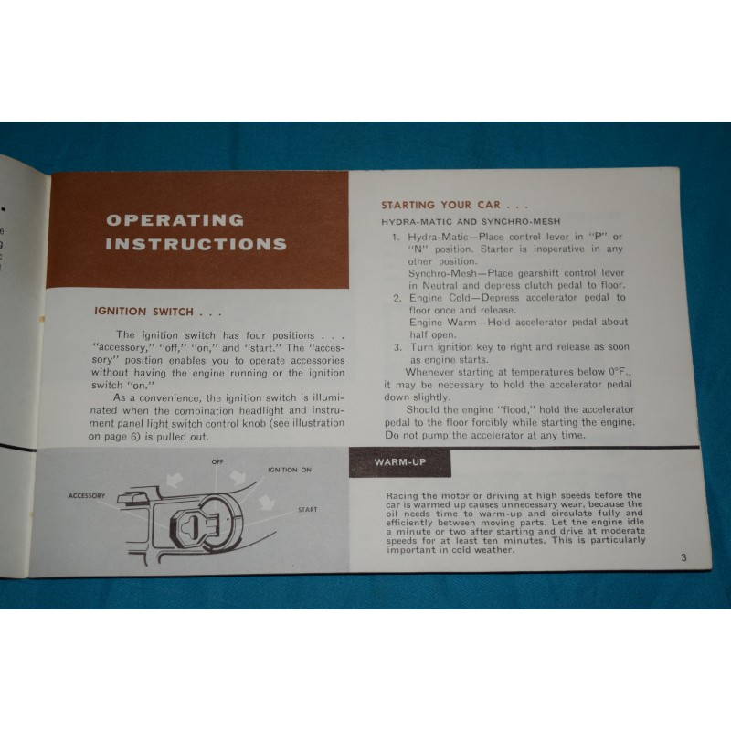 Original 1960 Pontiac Bonneville owners manual