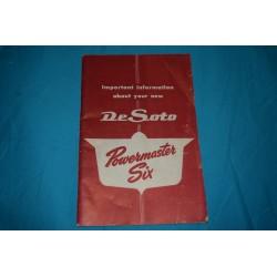 1953 De Soto owners manuals I6