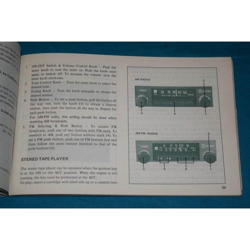 Original 1974 Toyota Corona Owners Manual