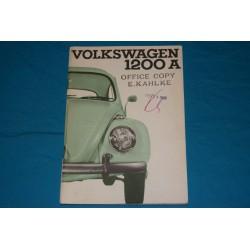 1966 Volkswagen Bug Type 1 1200A