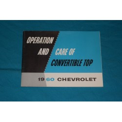 1960 Chevrolet Convertible top operation manual