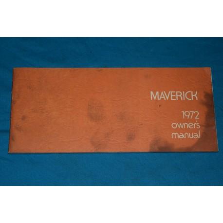 1972 Ford Maverick Owners manual