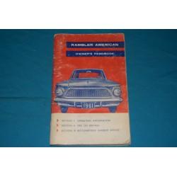 1961 AMC Rambler American Owners manual