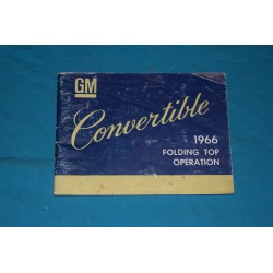1966 Convertible Top Operation Manual