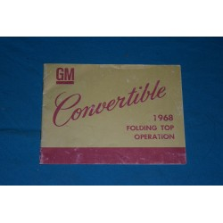 1968 Convertible Top Operation Manual