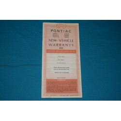 1969 Pontiac Warranty book NOS