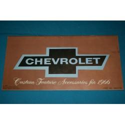 1966 Chevrolet Custom Feature Accessories manual