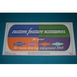 1964 Chevrolet Custom Feature Accessories manual