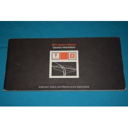 1972 General information Owners manual