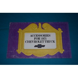 1972 Chevrolet Truck Custom Feature Accessories manual