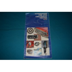 1976 Chevrolet Truck Custom Feature Accessories manual