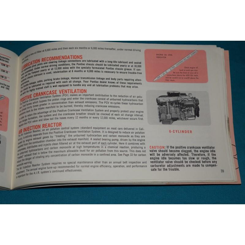 Original 1966 Pontiac / GTO / Tempest Owners manual